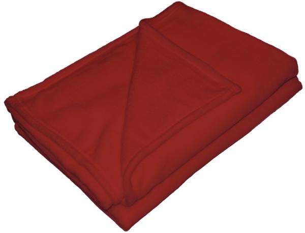 Chilirote Flanell Wohndecke von KBT 150x200cm