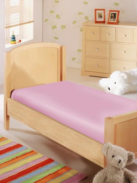 Baby Spannbettlaken in Jersey Qualität - rosa