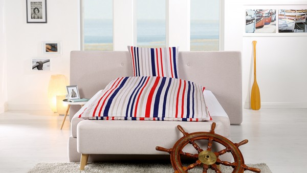 Goldmond Bed Bettwäsche -maritime- Stripes 135 x 200 + 80 x 80