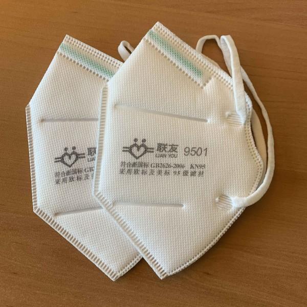 Atemschutzmaske 2-er Set ausgepackt