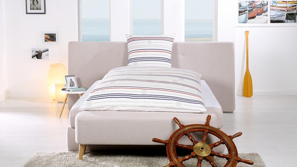 Goldmond Bed Bettwäsche -maritime- Ocean Set 135 x 200 + 80 x 80
