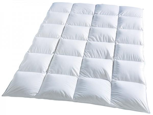 Weiße Kassettendecke aus der Serie Classic von KBT Bettwaren vor weißem Hintergrund
