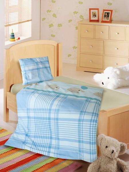 Blauen Elefanten Kinderbettwäsche von KBT Bettwaren