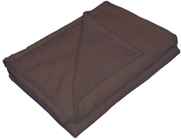 Braune Flanell Wohndecke von KBT 150x200cm